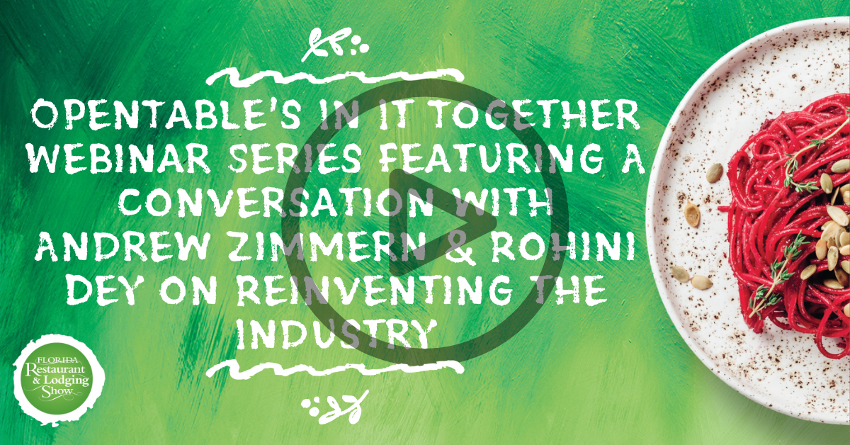 OpenTable's In It Together Webinar Series Featuring A Conversation with Andrew Zimmern & Rohini Dey on Reinventing the Industry